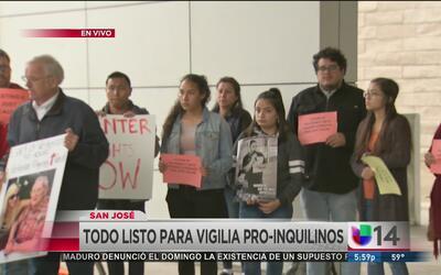 Realizan vigilia pro inquilinos en San José