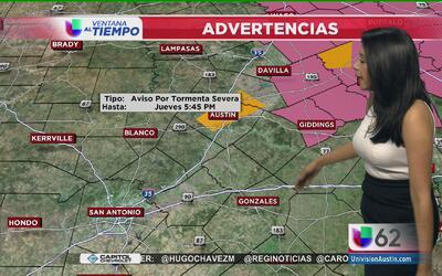 Se activa alerta por tormenta severa en Austin