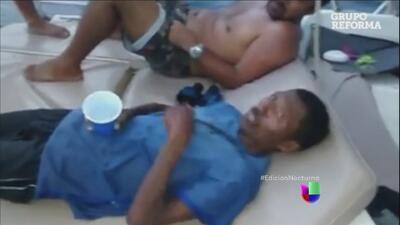 Un pescador que naufragó fue rescatado en México