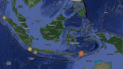 Sismo en Alors, archipiélago de Indonesia