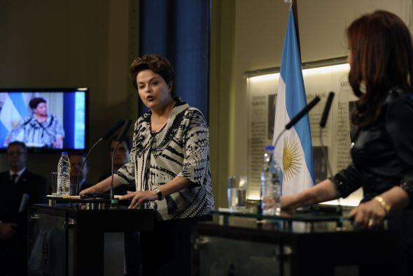 La mandataria argentina expresó ante empresarios, miembros del ga...