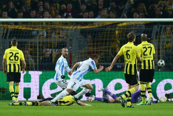 La ventaja de los andaluces obligaba al Dortmund a marcar dos goles.