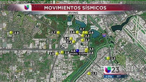 Segundo temblor en Irving en el 2015