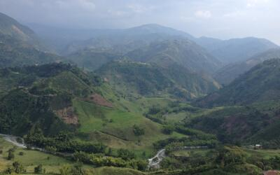 Vista del paisaje cafetero, declarado patrimonio de la humanidad.