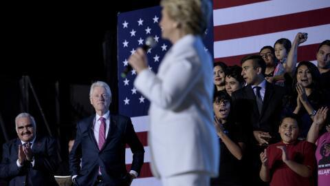 Vicente Fernández presentó a Hillary Clinton en una 'fiest...