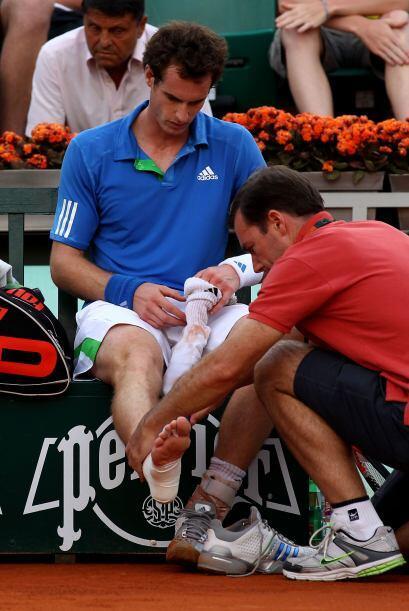 El británico Andy Murray (N.4), con problemas en su tobillo derec...