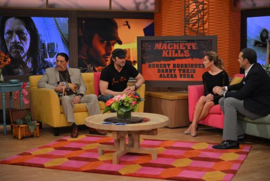 Danny Trejo, Alexa Vega y el director Robert Rodríguez estuvieron en la...