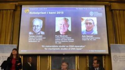 La academia sueca anuncia los ganadores delPremio Nobel de Química 2015
