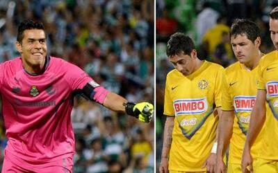 América cayó 3-1 con Santos y quedó fuera de la Liguilla