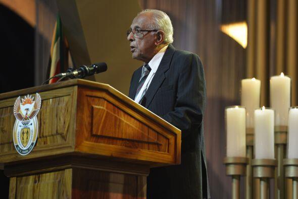 """Tras cantarse el himno nacional, """"Nkosi Sikelele Africa"""", un o..."""