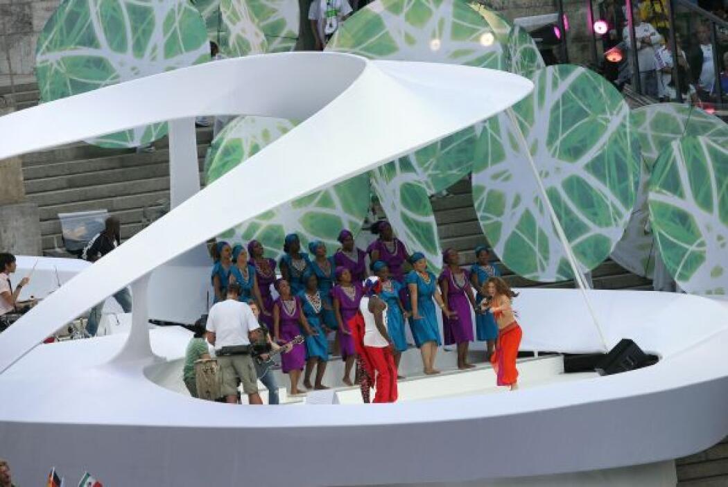 Puso a bailar a todos los presentes en el Estadio Olimpiastadion de Berl...