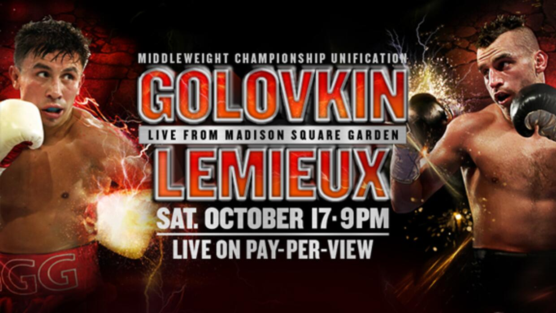 Golovkin vs Lemieux