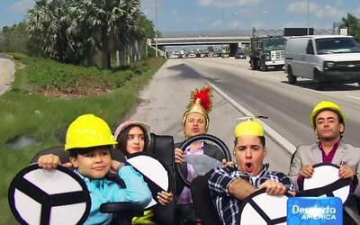 Carreritas virtuales en plena carretera