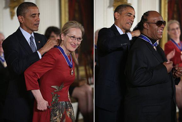 Celebridades como Meryl Streep y Stevie Wonder fueron reconocidas por el...