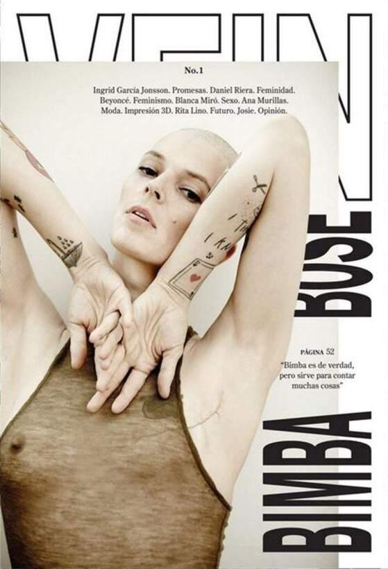 Portada de la publicación española Vein Magazine protagonizada por Bimba...