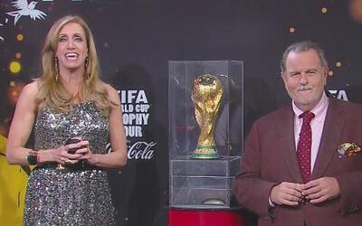 ¡En primicia! La Copa llegó a Univision y visitó El Gordo y la Flaca