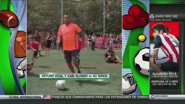 El niño que ajustició con un patadón a Arturo Vidal en una exhibición
