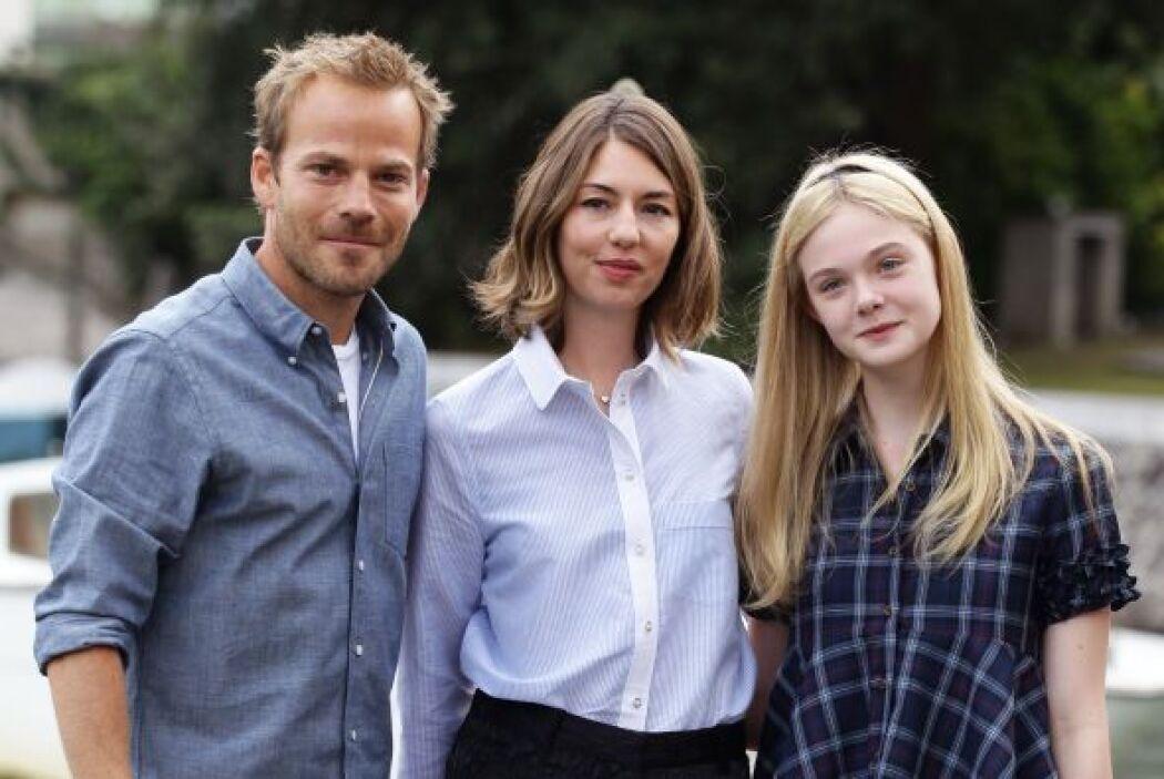 Elle, junto a Stephen Dorff y Sofia Coppola, en el festival de Venecia e...