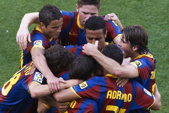 El festejo final del Barcelona. Golearon 3 a 1 y se despidieron de la Li...