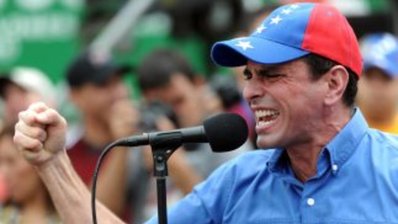 El líder opositor venezonaloHenrique Capriles.