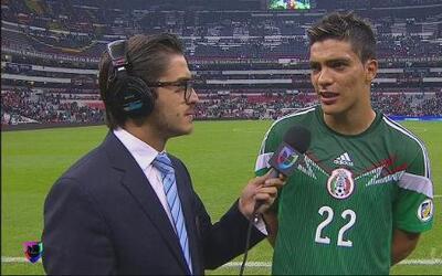 Raúl Jiménez, contento por haber anotado el gol del triunfo