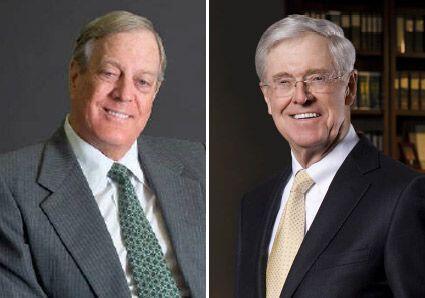 Charles Koch, CEO Koch Industries, y David Koch, Vice Presidente Ejecuti...