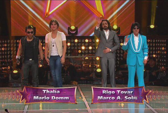 Thalía y Mario Domm participarían contra El Buki y Rigo Tovar.