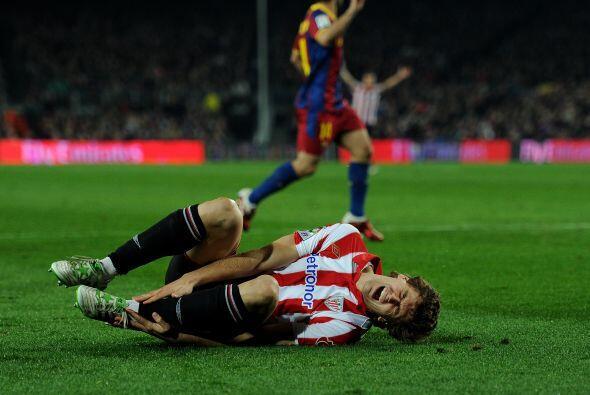 El contacto sobre el atacante de la selección española era...