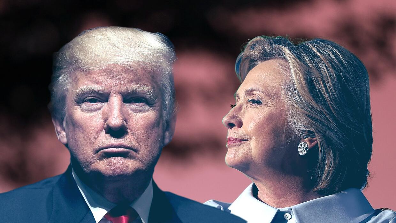 Los candidatos Donald Trump y Hillary Clinton.