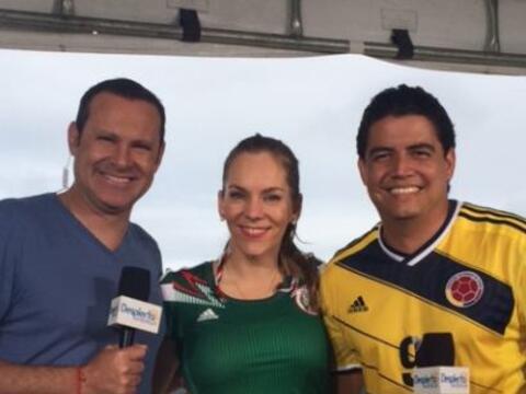 Alan Tacher y Orlando Segura le dieron la bienvenida a Eugenia Karolyi.