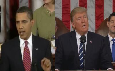 Las diferencias entre Obama y Trump en sus discursos ante el Congreso