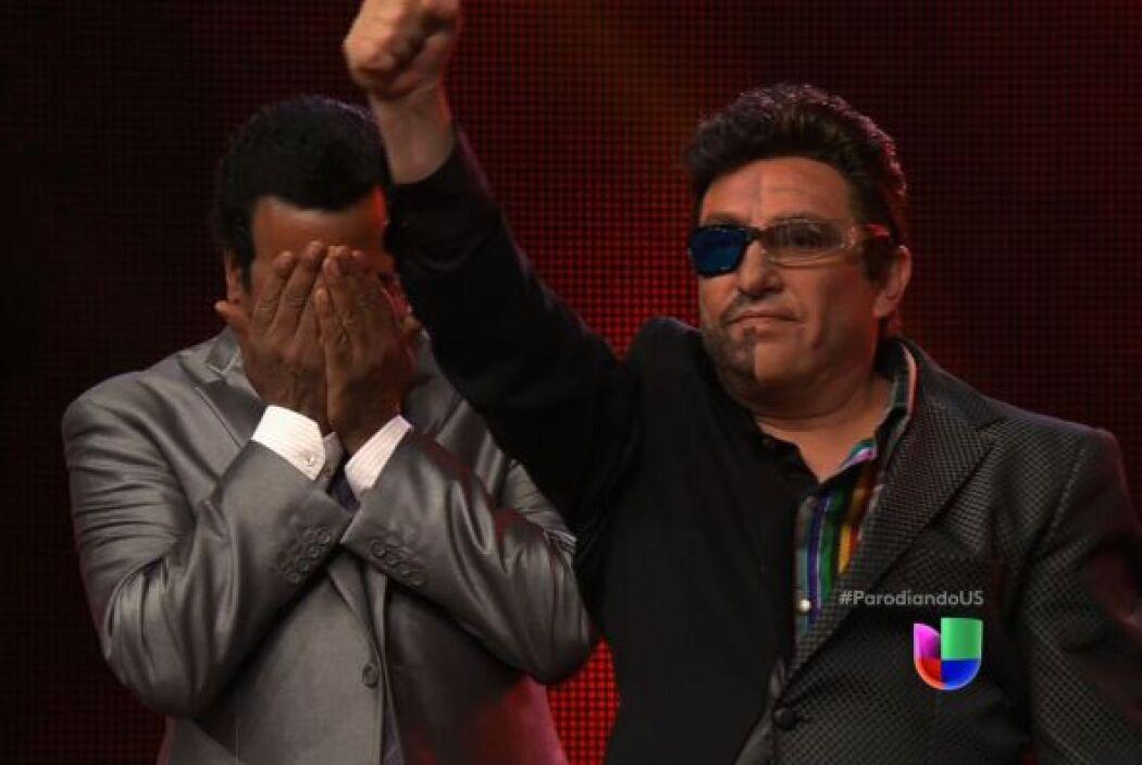 Manuel Mijares y Emmanuel, interpretados por un mismo imitador, lucharon...