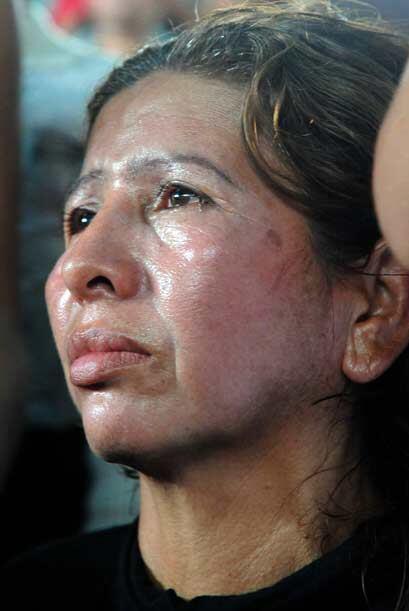 Eloiza Vivaz, madre de Edwin Valero, no paró de lamentar la parti...