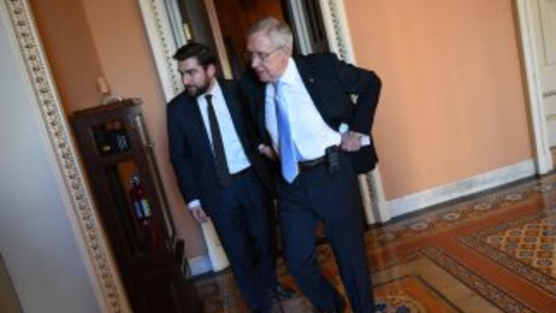 El líder de la mayoría demócrata en el Senado, Harry Reid.