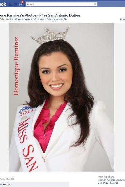 Domonique Ramírez, quien fuera  Miss San Antonio 2011, fue destit...