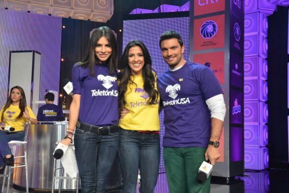 En una de las pausas así posaron Alejandra Espinoza, Mayti Interiano y J...