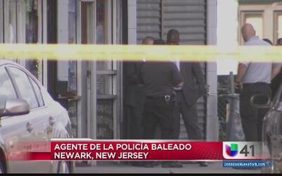 Agente de la policía baleado en Newark