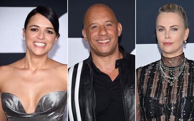 Todo el elenco principal de la octava película de 'Rápido...