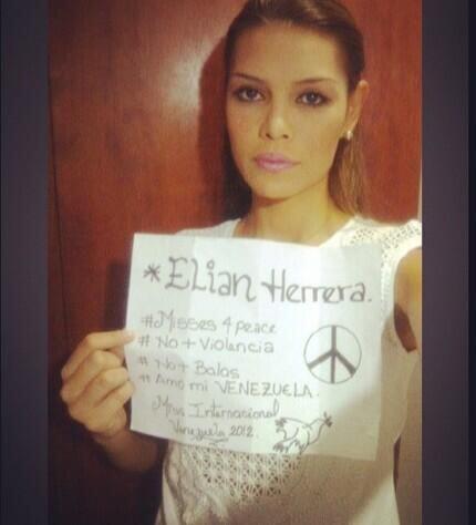 Elian Herrera, Miss Internacional 2012, dijo que amaba a su Venezuela. F...