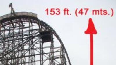 Aproximadamente a la mitad de la caída de casi 50 metros, la señora Rosa...