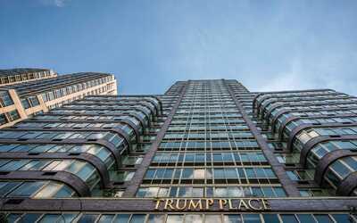 La fachada de uno de los edificios que lleva el nombre de Trump en River...