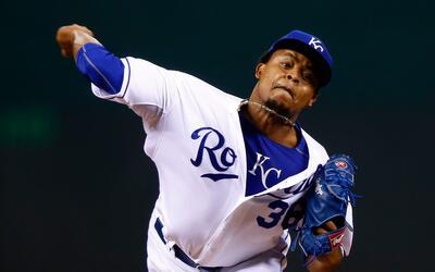 El pitcher dominicano fue el abridor de los Royals
