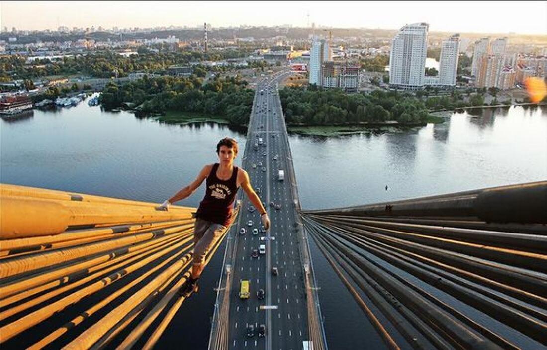 Asimismo se toma fotografías desde puentes o cualquier otra construcción...