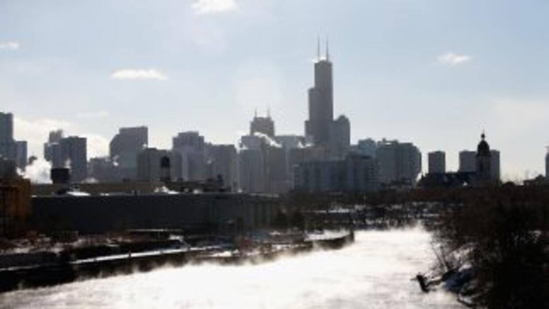 Se derrite el Río Chicago