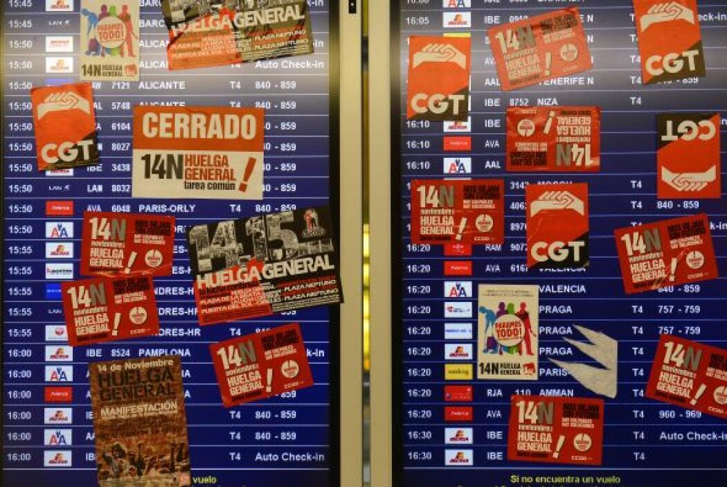 En España se trata de la segunda huelga general en lo que va del año, y...