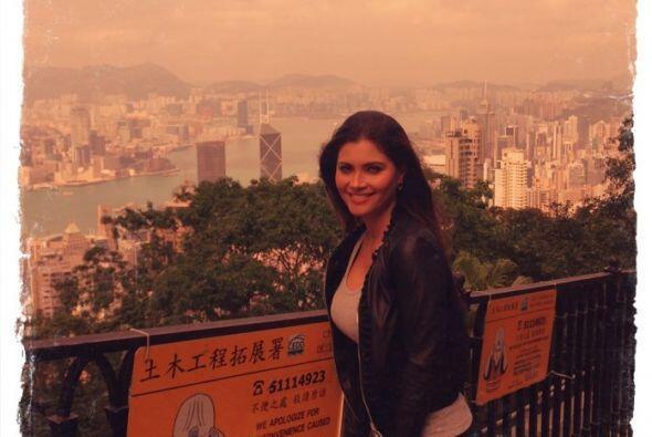 Una vista de Hong Kong desde Victoria Peak, un rato de relax entre tanta...