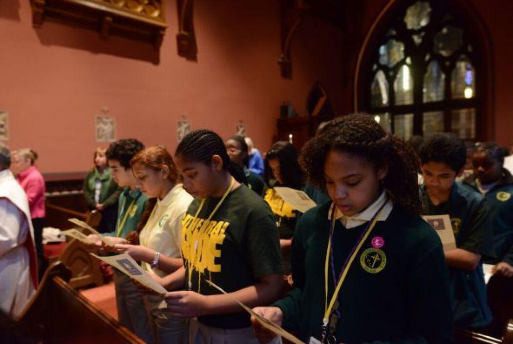 Estudiantes de Boston atendieron a una misa celebrada en honor a J.F. Ke...