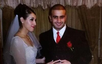 This photo of Omar Mateen's second marriage to Noor Salman was found in...
