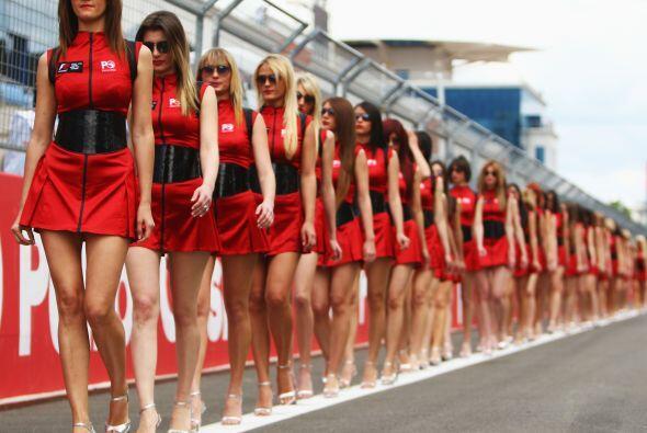 La belleza femenina siempre está presente en todas las carreras de la Fó...
