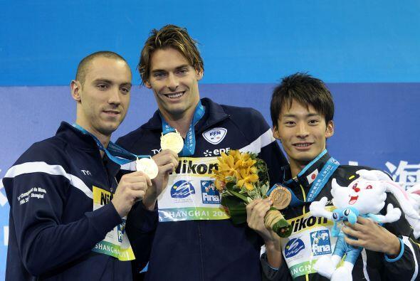 Tras los franceses completó el podio, en tercera posición, el japonés Ry...